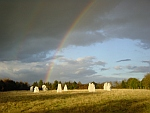 Rainbow at Beech Hill Stone Circle